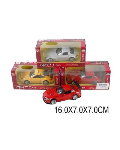 Машина металл ML53601L (1530821) М1:32,свет,звук,pull back,3цвета,в коробке 16*7*7см