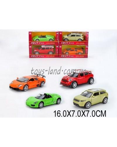 Машина металл ML53602L (1530833)  М1:32,свет,звук,pull back,4цвета,в коробке 16*7*7см