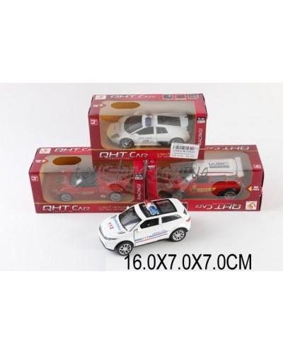 Машина металл ML53602LF (1530835) М1:32,свет,звук,pull back,4цвета,в коробке 16*7*7см