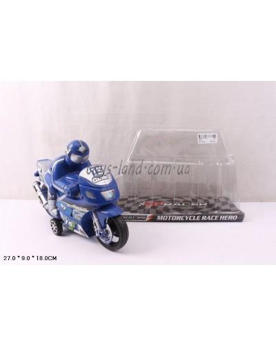 Мотоцикл инерц.3375 (3388) 2 цвета, р-р игр.27*9*17см, в пакете 30*28см