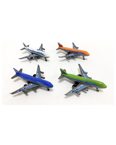 Самолет инерц. 998-1 4 вида, в пакете 11*10см