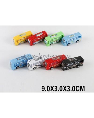 Автобус инерц. 168-98B/C (1512531/32) микс, в пакете 9*3*3см