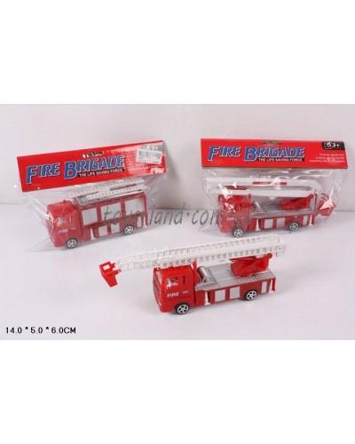 Пожарная техника инерц. 3282-1 3 вида, в пакете 14*5*6см