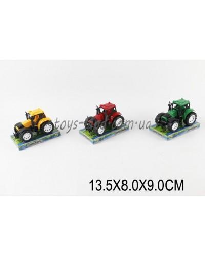 Трактор инерц. 9970 (1470914)  3 цвета, под слюдой 13,5*8*9см