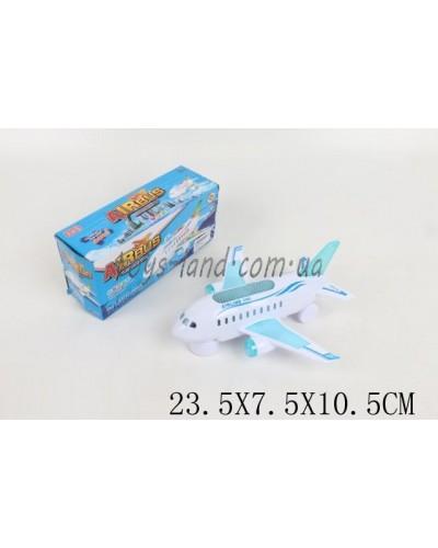 Самолет батар. 6273 (1569988) свет, звук, в коробке 23,5*7,5*10,5см