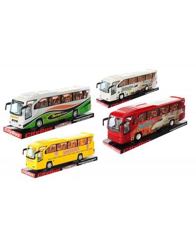 Автобус инерц. 3088C/3091B/3092  3 вида, под слюдой 38*11*9см