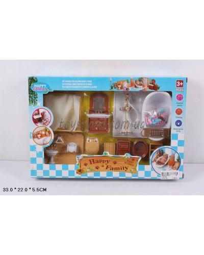 Животные флоксовые 012-07B Happy Family, Санузел, в короб.33*22*5,5см