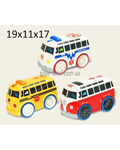 Муз.автобус 31501/2/3C (1407033/4/5C)  батар., муз, реалзвук от прикоснов, в кор19*11*17