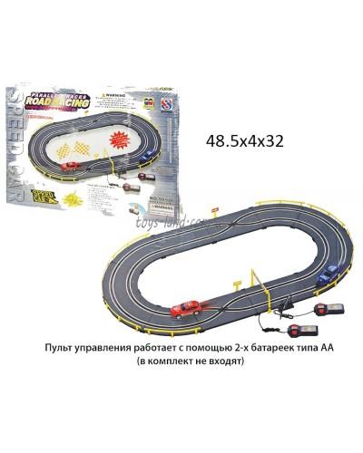 Трек 90988  батар., 2 машины на р/у,овал.,длина пути-184см,от 3-х лет,в кор. 49*32*5см