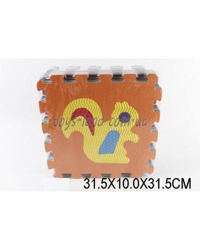 Пазлы фомовые A2320 (1420951) 10 пластин, толщ. 1см, в плёнке 31,5*10*31,5см