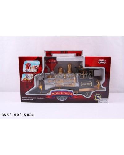 Поезд батар 0657 PLAY SMART звук, в коробке 36,5*19*15см
