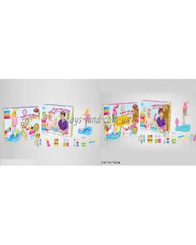 """Набор для творчества 9253/54 """"Мороженое""""пресс, формы, пласт, насадки, в кор.27*23,5*5см"""