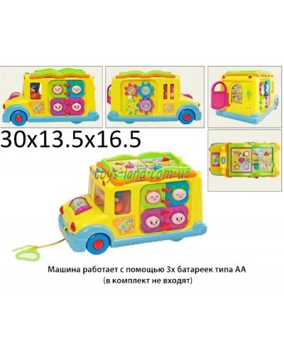 """Муз.разв.""""Забавный автобус"""" 9183 батар., 8 функций., в кор. 30*13,5*16,5см"""