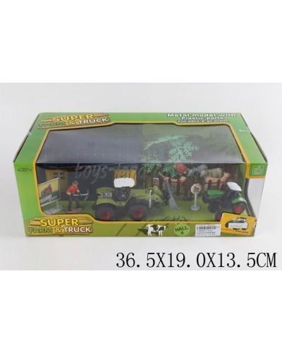Игровой набор металл 77013 (1348492) ФЕРМА в коробке 36,5*19*13,5см
