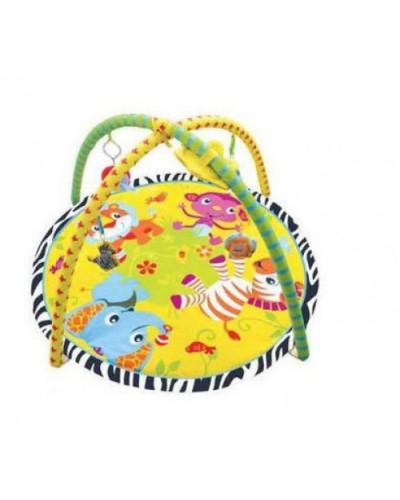 Коврик для малышей 898-302B/303B  с погремушками, в сумке 65*61 см