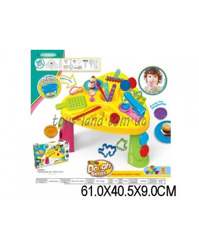 Набор для творчества 8723 (1335373) Столик,6 баночек пластилин, аксесс, в кор.61*40,5*9см
