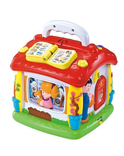 """Муз.разв.игрушка 9149  """"Говорящий домик"""" батар., свет, в кор. 21*22*19см ЗТ"""