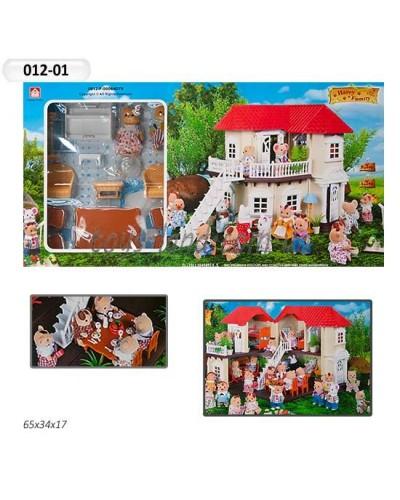 Животные флоксовые 012-01 Happy Family, в короб.65*34*17см