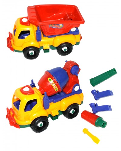 """Конструктор 6789-1  """"Машина"""" 3 вида, с отвертой, в пакете 20*9,5*13см"""