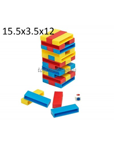 """Игра """"Джанга"""" 8020 (1093355)  в короб. 12*3,5*15,5см"""