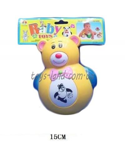 Неваляшка 6379 Медвежонок, батар., муз.., в пакете 14 см