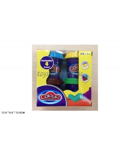 Пластилин 9201 4цвета пластилина, в коробке 12,5*6*13см