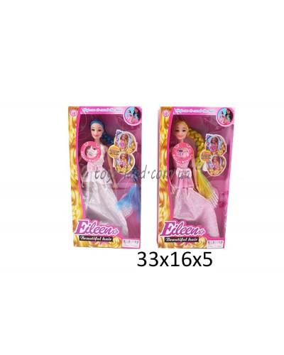 """Кукла типа """"Барби"""" 1014 2 вида, муз, свет, с расческой, в кор.33*16*5см"""