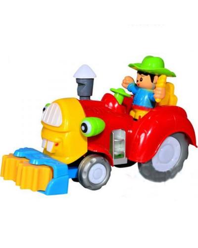 Муз.трактор 213-1ABC (933163)  батар.свет, муз,в кор. 26*12*15см