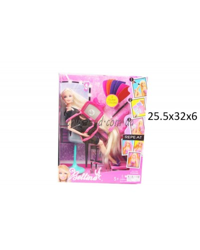 "Кукла типа ""Барби""Парикмахер"" 66784  кресло,аксесс, в кор.26*6*32см"