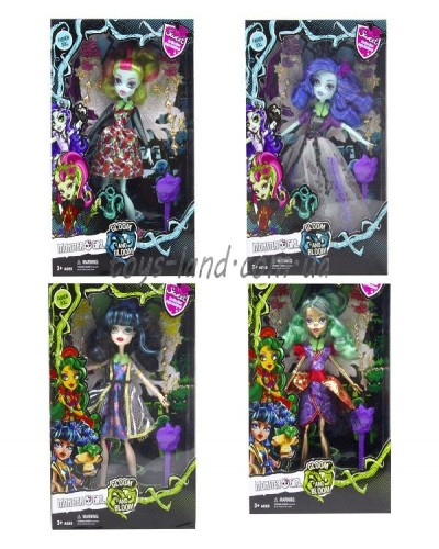 "Кукла ""Monster High""Gloom&Bloom"" DH2167 (4 вида, с расческой, шарнирные, в кор."