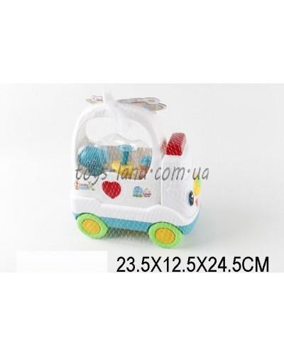 Доктор 3321-D (1417546) свет/звук,шприц..., чемоданчик-машинка, в сетке.23,5*12,5*24,5см