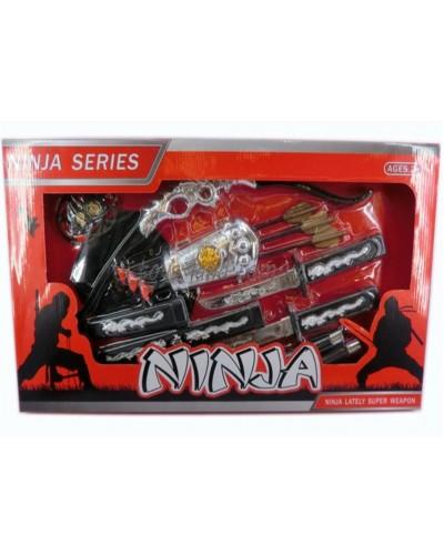 "Набор оружия ""Ninja"" RZ1289  лук и стрелы, нож, в коробке"