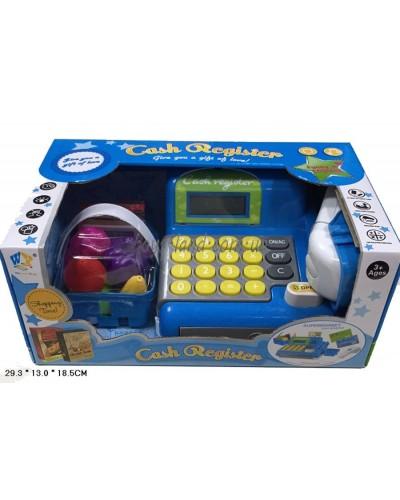 Кассовый аппарат WY348-1 батар., с пласт.продуктами, корзинкой, в кор. 34,5*20,6*14,5см