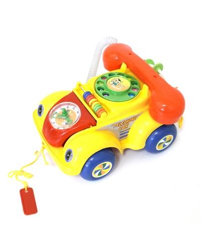 Каталочка 705Р машина-телефон, на веревочке, в пакете 22*14см