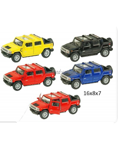 """Машина металл """"KINSMART"""" KT5097W Hummer H2 в коробке 16*8*7см"""