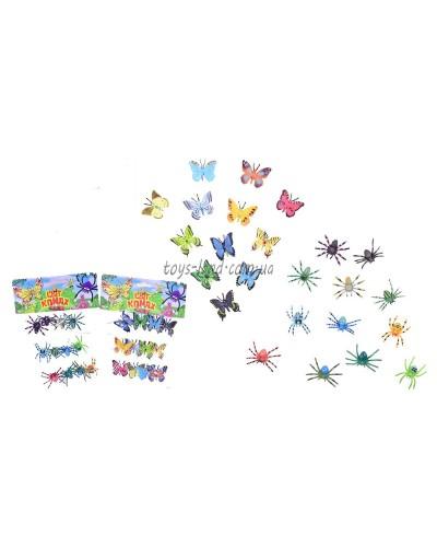 Животные KC01-3/KC01-8  насекомые,в пакете 20*17*3,5см