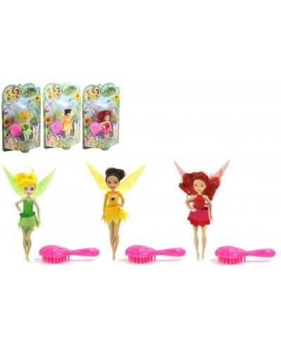 "Кукла ""Tinker Bell"" ZT8861 батар, 3 вида, свет/муз, с расческой, на планш.17*28*6 см"
