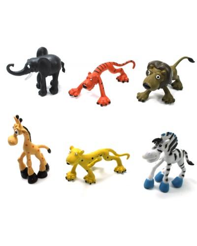 Животные 8881/2 (1499091-2) динозавры,2 вида,6 шт в пакете 10*4*5см