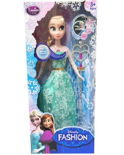 """Кукла """"Frozen"""" 361C муз, с волшебной палочкой, в кор."""