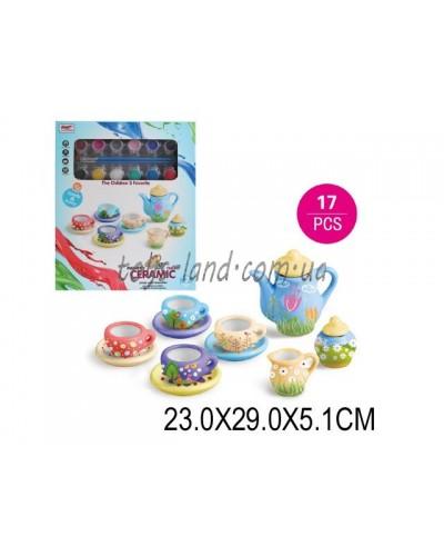 Набор для рукоделия 555-DIY003 (1544357) росп чайного серв, крас,кисти, в кор. 23*29*5,1см