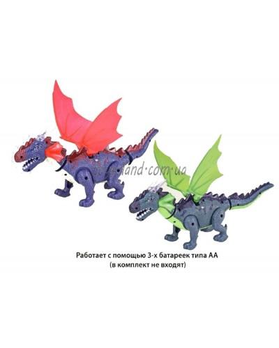 Животные 9789-70 динозавр, свет, звук, ходит, в коробке 23*13*11см