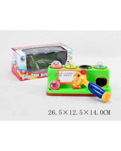 """Муз.разв.игрушка 599 (969946R) """"Стучалка"""" батар.,в кор. 27*14*13см"""