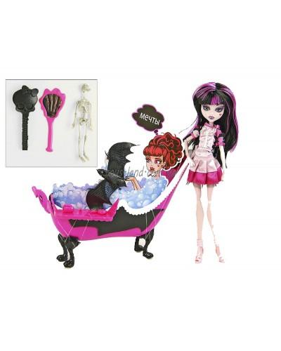 """Кукла """"Monster High"""" 66526 шарнир,с ванной,аксесс, в кор. 32,5*30,5*11 см"""