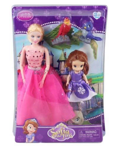 """Кукла """"Sofia"""" ZT8691 с королевой Мирандой в наборе,фигурками животных, в кор.34*23,5*7,5 см"""
