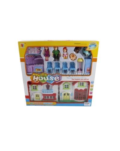 Домик 8094-1 (1383867)  мебель,фигурки, в кор. 40*38*6,5см