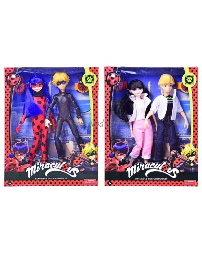 "Кукла ""Miraculous:Леди Баг и Супер Кот"" 2121 2 вида, мальчик+девочка, в кор.25*6*33см"