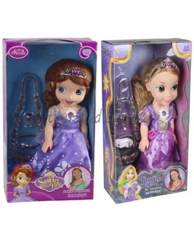 "Кукла ""Sofia""Рапунцель"" ZT8932/8 2 вида, муз, ожерелье, браслет, кольцо, кор. 20,5*10*38см"