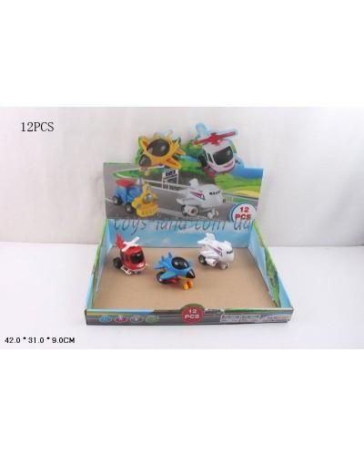 Самолет инерц. 868-14 3 расцветки, в боксе 42*31*9см