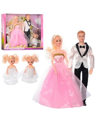 "Кукла типа ""Барби""Семья"" JND-1610 2 вида,с Кеном,двумя дочерьми в кор.41*32*5.5cм"
