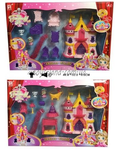 Замок 1206E/F 2 вида,свет/зв,две фигурки,7 предметов мебели, в кор.48*32*8см